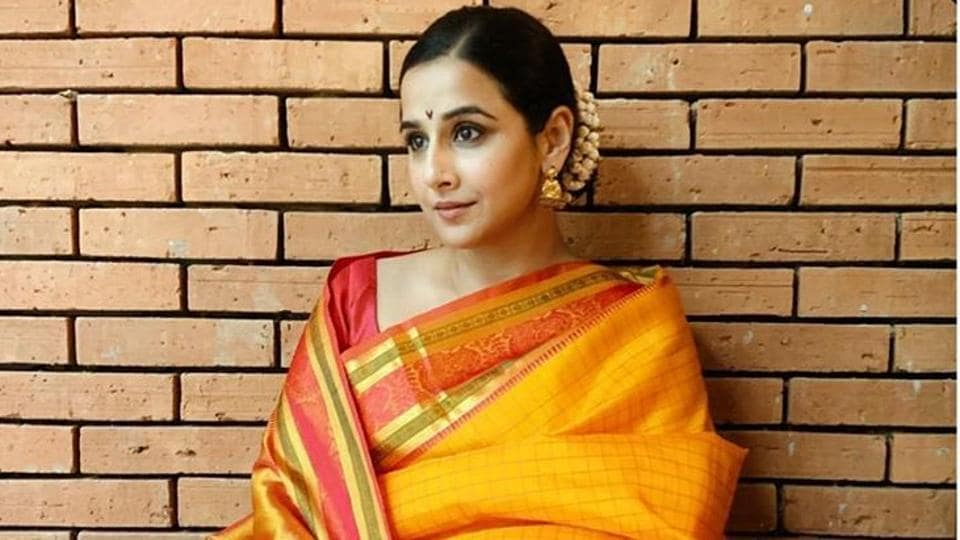 Vidya Balan has picked certain spots in her house that make the perfect backdrop for her immaculate fashion sense.