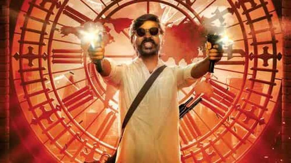 Dhanush in a poster of Jagame Thanthiram.