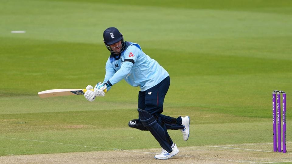 FILE PHOTO: Cricket - Third One Day International - England v Ireland - Ageas Bowl, Southampton, Britain - August 4, 2020 England's Jason Roy in action, as play resumes behind closed doors following the outbreak of the coronavirus disease (COVID-19) Mike Hewitt/Pool via REUTERS/File Photo