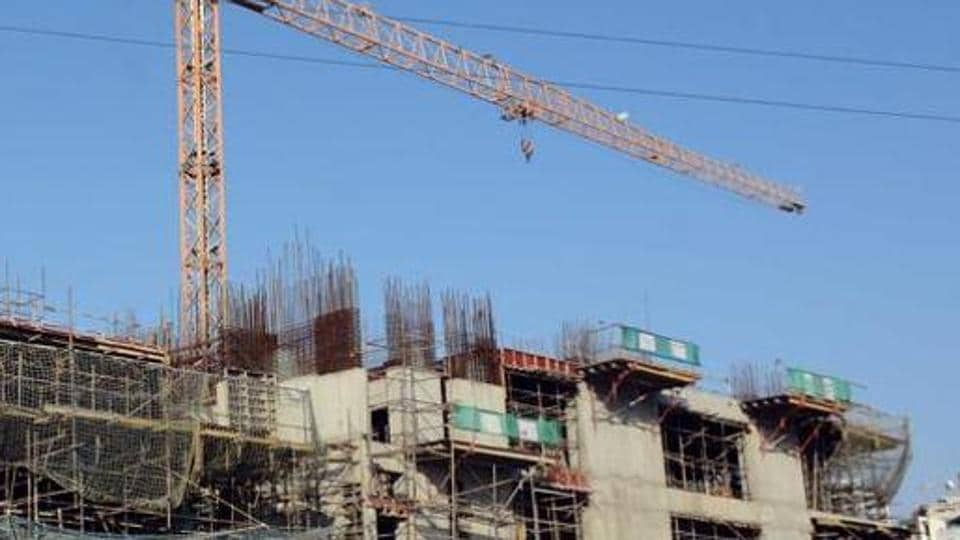 A view of under construction building seen at Kharadi in Pune, India, on Sunday.