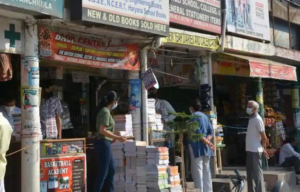 A shopping complex in Panchkula. The Haryana government has decided to let market places in urban areas to stay open over the weekends.