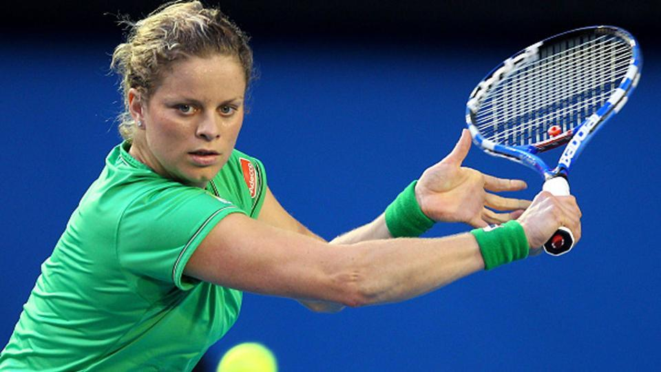 Kim Clijsters in action.
