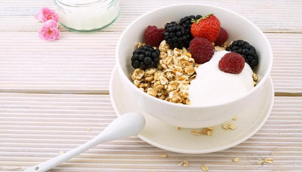 Overnight oats for a healthy meal.