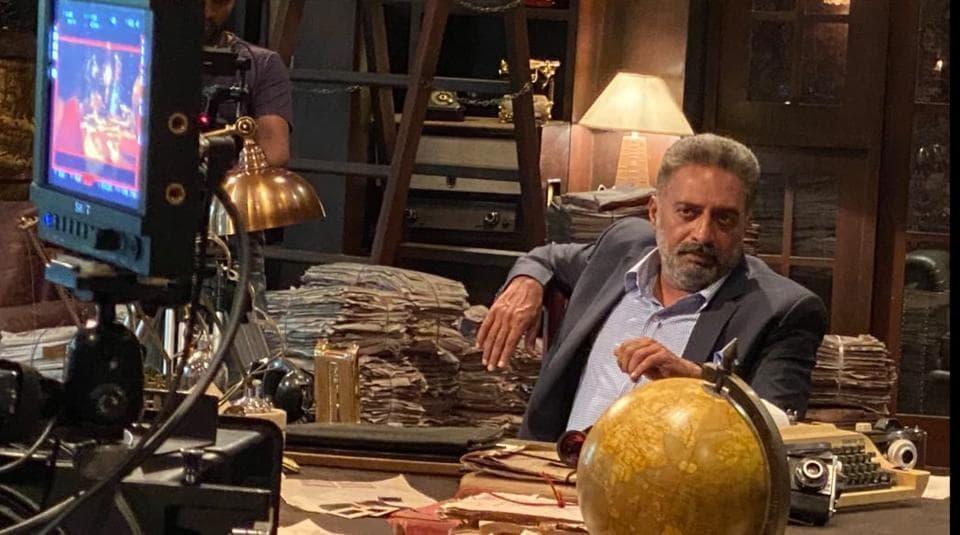 Prakash Raj on sets of KGF: Chapter 2.
