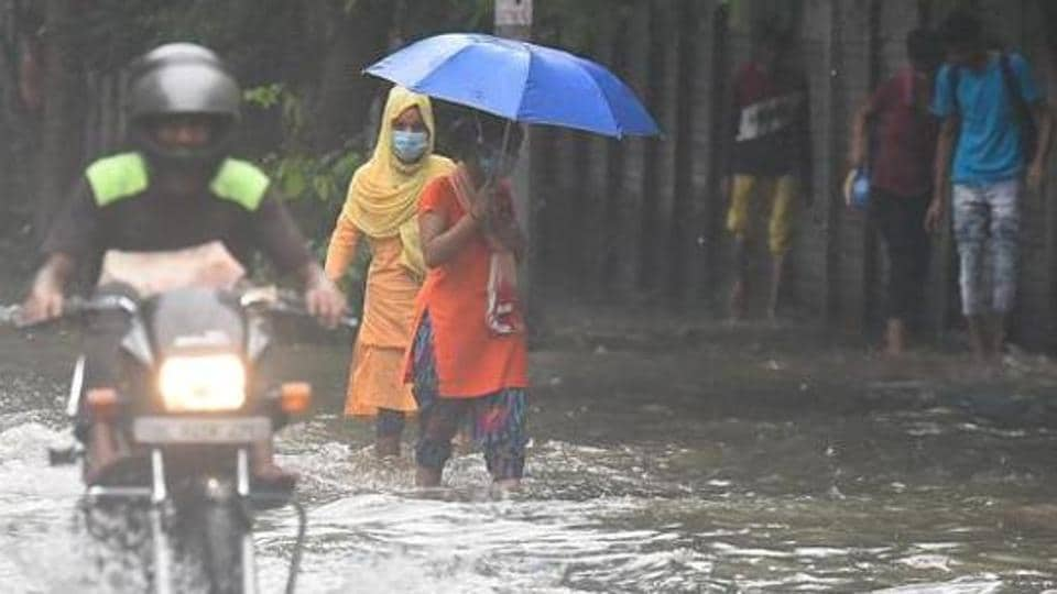 Rains lashed parts of the national capital on Friday
