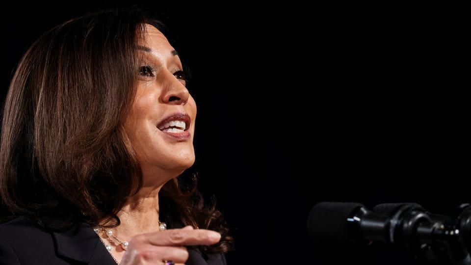 Democratic US vice presidential nominee Kamala Harris.