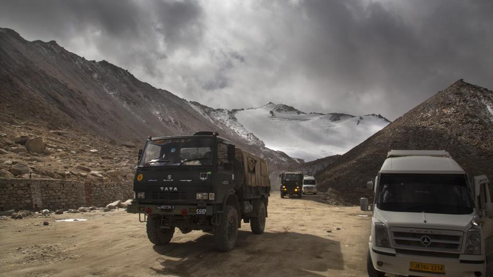 File photo: Indian Army truck crosses Chang la pass near Pangong Lake in Ladakh region.