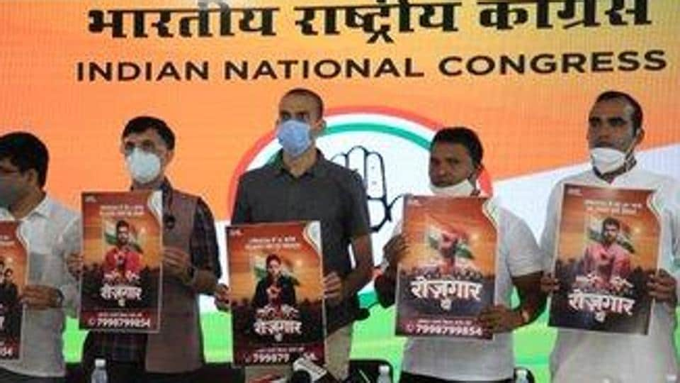 """The Youth Congress will also stage a 'Parliament Gherao"""" to press for their demands. (Photo@IYC)"""