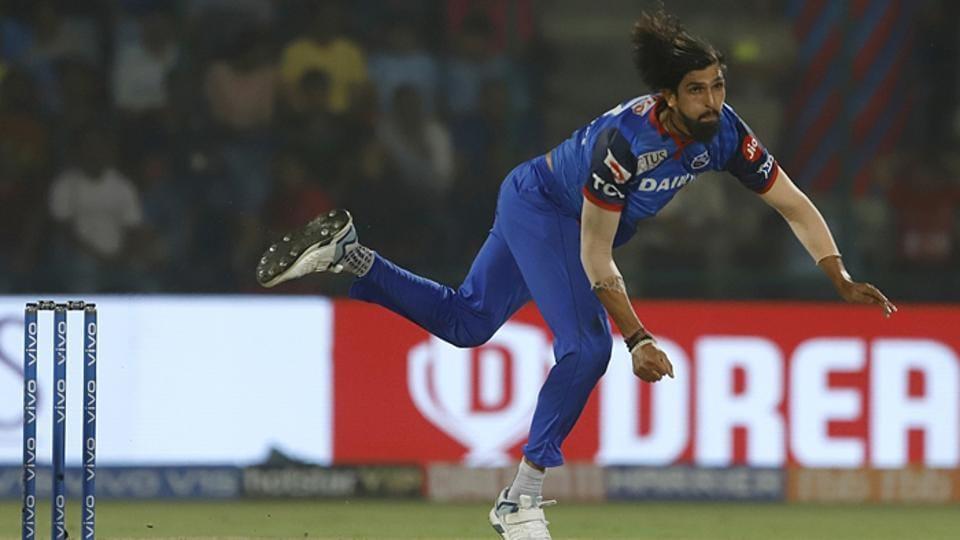 Ishant Sharma in action for Delhi Capitals.