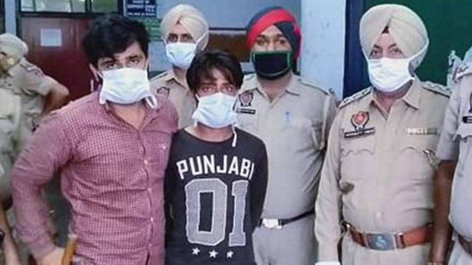 The accused in police custody in Ludhiana on Saturday.