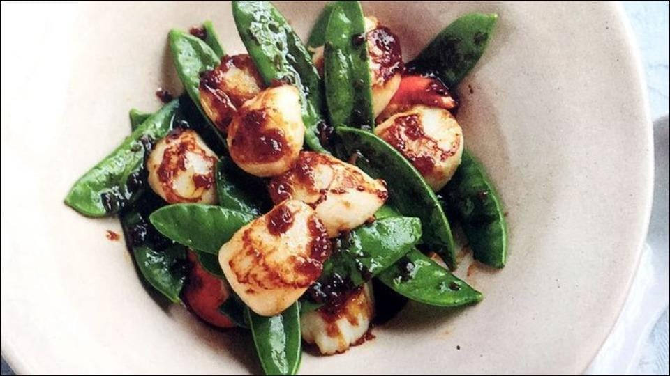 Recipe for oyster-sauce scallops to make at home