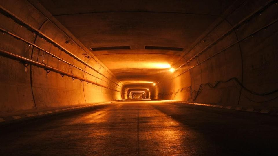The Rohtang Tunnel is being constructed in the Pir Panjal ranges of Himachal Pradesh, since the Manali-Sarchu-Leh road remains closed for nearly six months in a year due to the Rohtang Pass being completely snow clad between November and April.