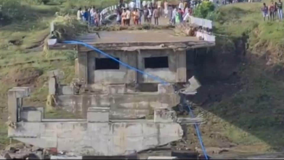 The damage to the bridges came to light on Sunday morning when the water level receded after the incessant rains continuing for more than 48 hours, stopped.