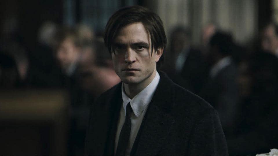 Robert Pattinson as Bruce Wayne in a still from The Batman.
