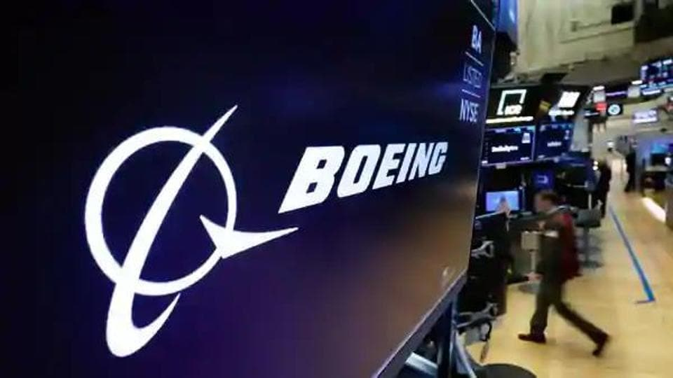In this photo, logo of Boeing is seen.