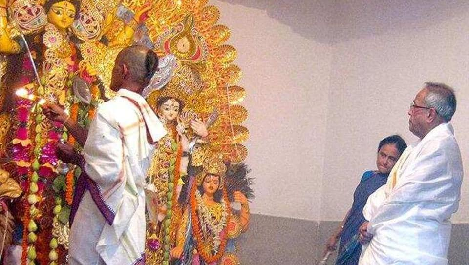 A devout Hindu, Pranab Mukherjee never missed his priest's role except only in 2015, when his wife, Suvra, passed away just a few days before the annual festival.