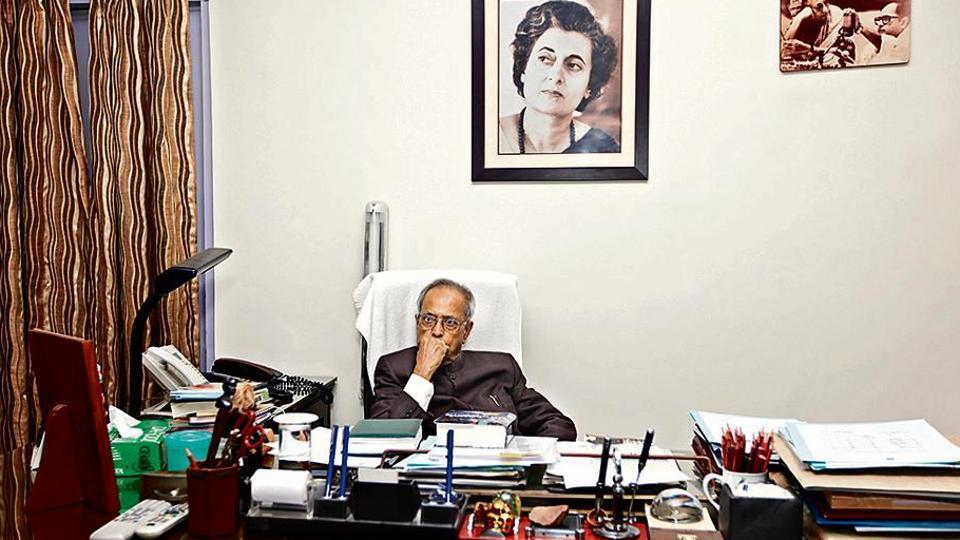 Pranab Mukherjee at his residence in New Delhi in 2012.