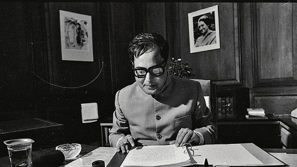 Pranab Mukherjee during his tenure as the finance minister in 1984