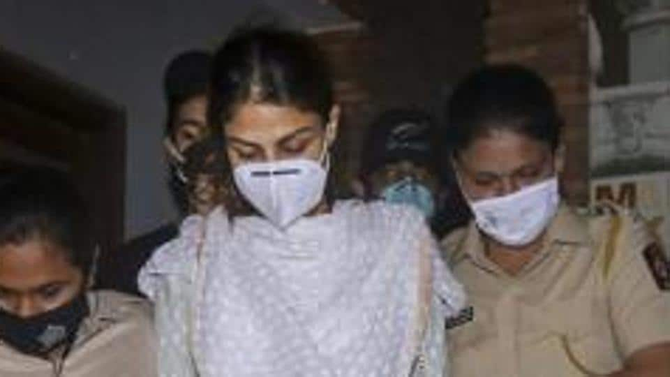 Actor Rhea Chakraborty leaves Enforcement Directorate office after being questioned in connection with the death of Sushant Singh Rajput, in Mumbai.