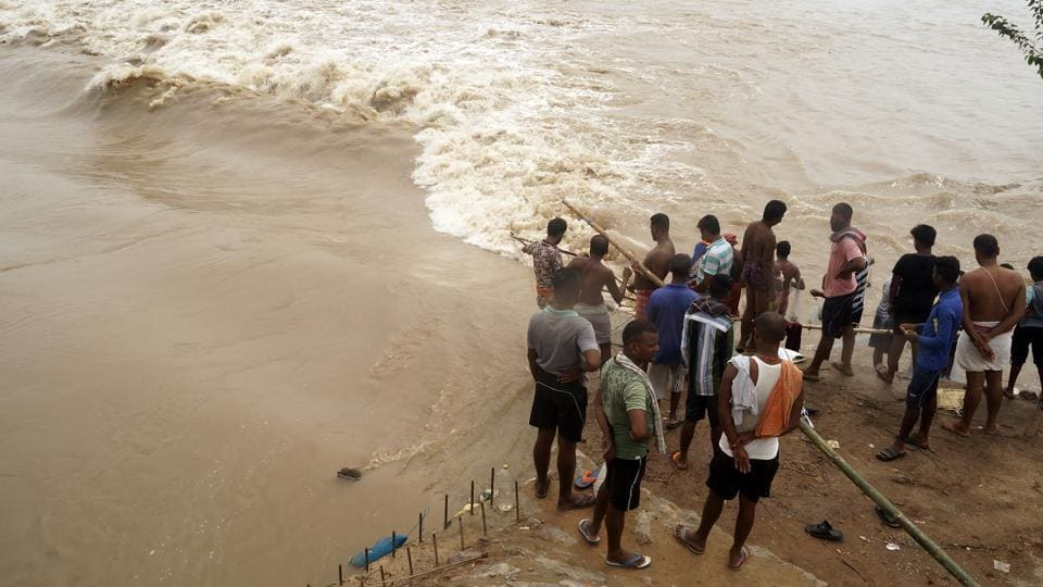 So far, 22 people in the state have died due to the flood. A total of 3256 villages under 896 gram panchayats in 112 blocks were hit due to the massive flood.