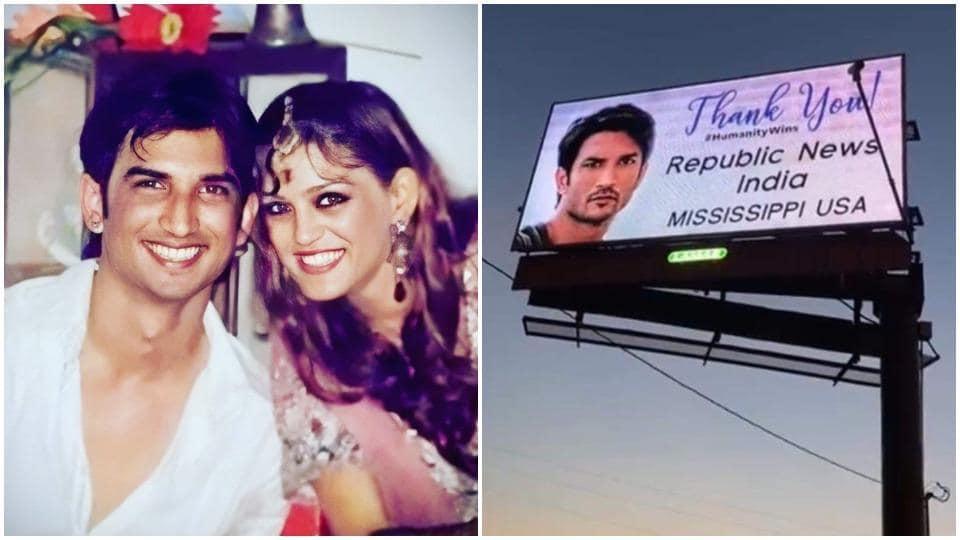 Shweta Singh Kirti had been sharing photos of billboards featuring Sushant Singh Rajput.