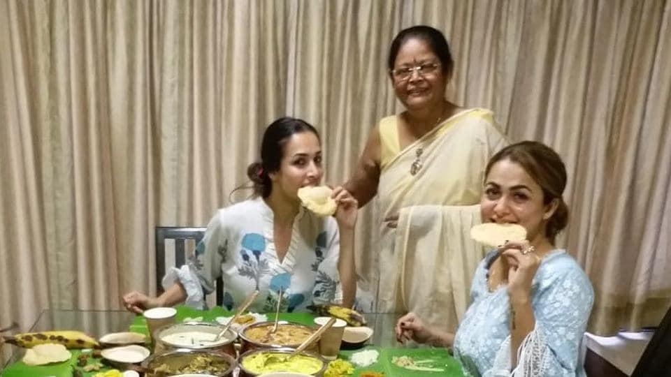 Sisters Malaika and Amrita Arora celebrated Onam with mouthwatering dishes prepared by Joyce, their mother