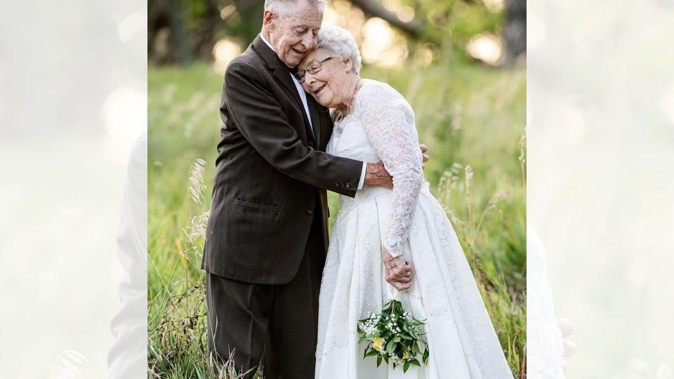 The image shows the beautiful couple.