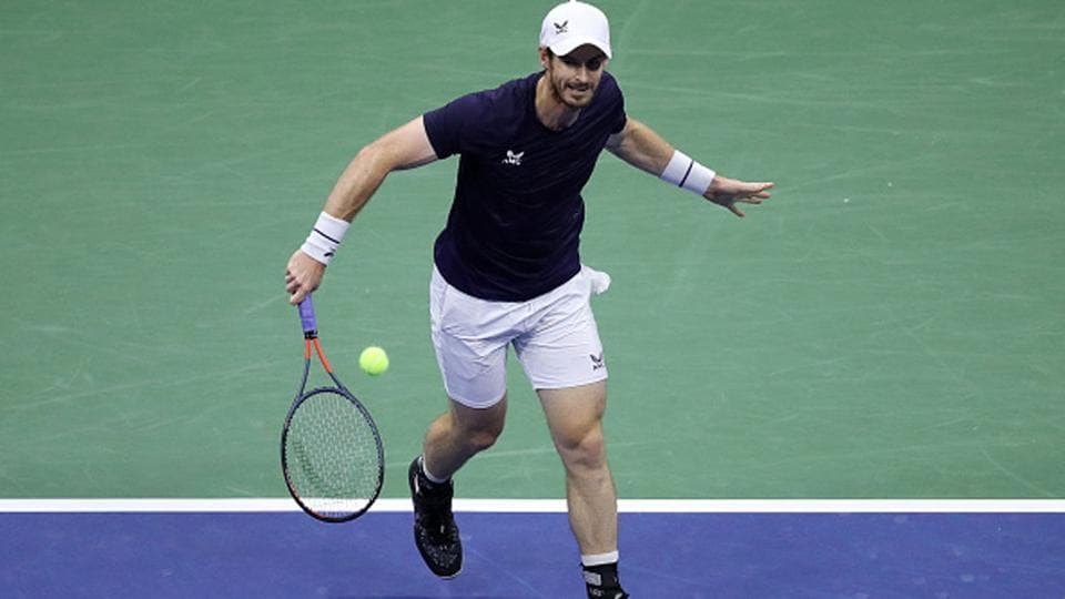 Andy Murray in action in US Open 2020 Round 2 match.