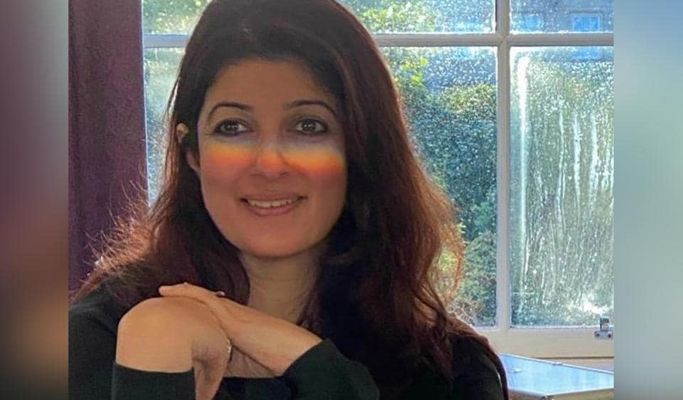 Twinkle Khanna shares photo of rainbow on her face, quips 'wanted a halo but a rainbow will do' – bollywood