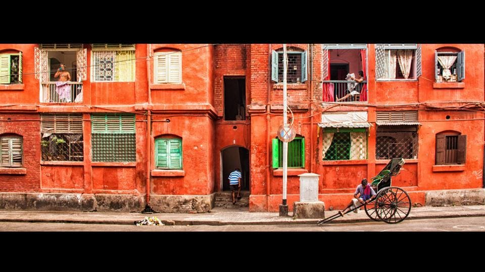 The red brick and green shuttered windows are a classic architectural feature in Kolkata. Over the last decade, Hoonjan's company Calcutta Photo Tours, has helped locals take the same delight in their neighbourhoods as they do when they visit exotic destinations. (Manjit Singh Hoonjan)