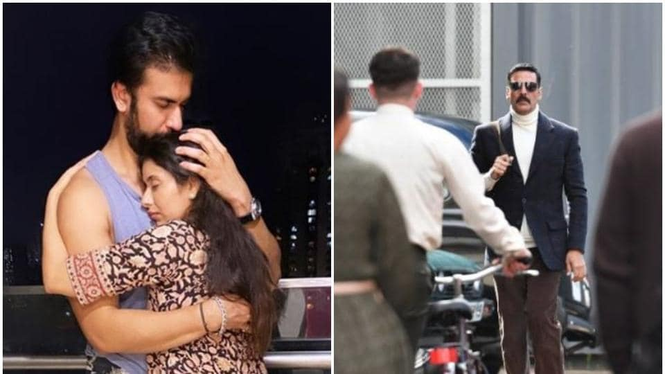 Charu Asopa posted a picture of her reunion with husband Rajeev Sen, while a viral picture of Akshay Kumar from the shoot of Bell Bottom has emerged online.