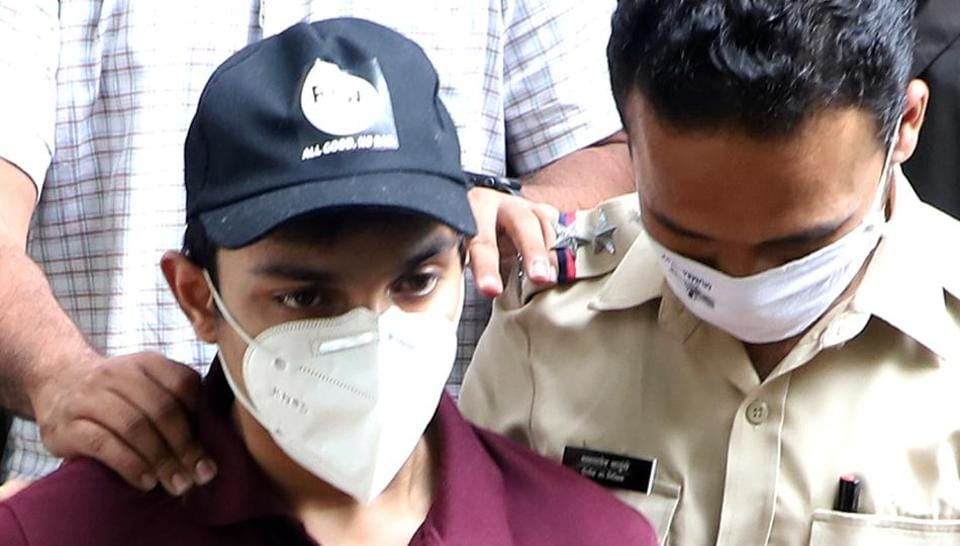 Showik Chakraborty (left), has been questioned by the Enforcement Directorate as well. He is named in the FIR registered by CBI in Rajput's death case.
