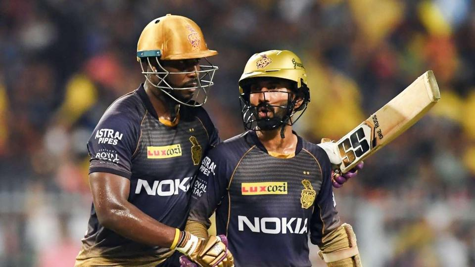File image of Dinesh Karthik and Andre Russell.