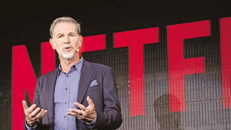 Reed Hastings, chief executive officer of Netflix Inc., during a news conference in Tokyo, Japan.