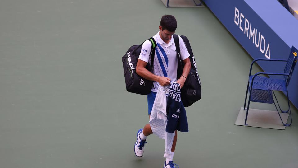 Novak Djokovic Out Of Us Open After Hitting Line Judge With Ball Tennis Hindustan Times