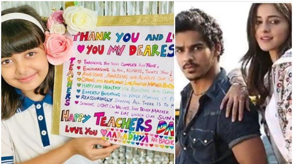 Aaradhya Bachchan made a sweet poster for her teachers. Ishaan Khatter and Ananya Panday shared the release date of their film Khaali Peeli.