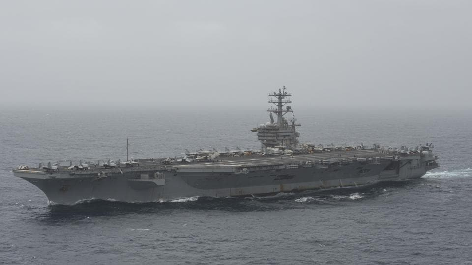 US Navy searches for missing Nimitz sailor in Arabian Sea