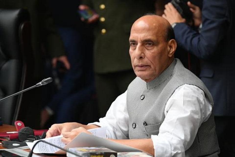 Defence minister Rajnath Singh is seen in this file photo.