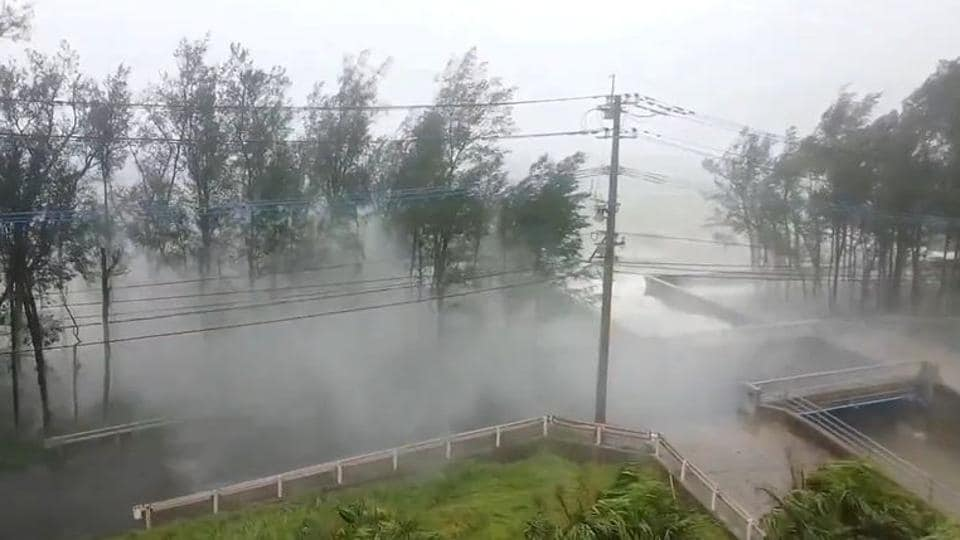 Tens of thousands without power as Typhoon Haishen batters Japan