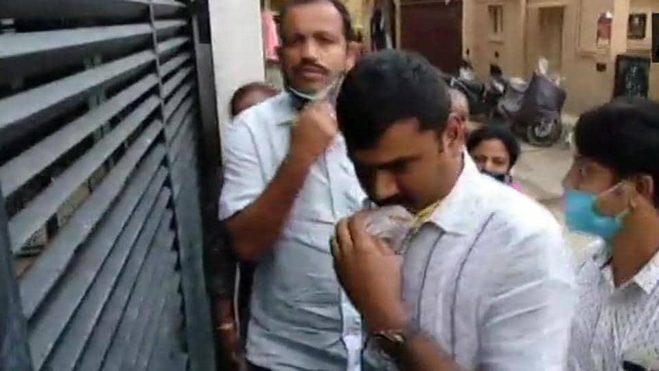 Central Crime Branch is conducting raids at Kannada actor Sanjana Galrani's home in Bengaluru.