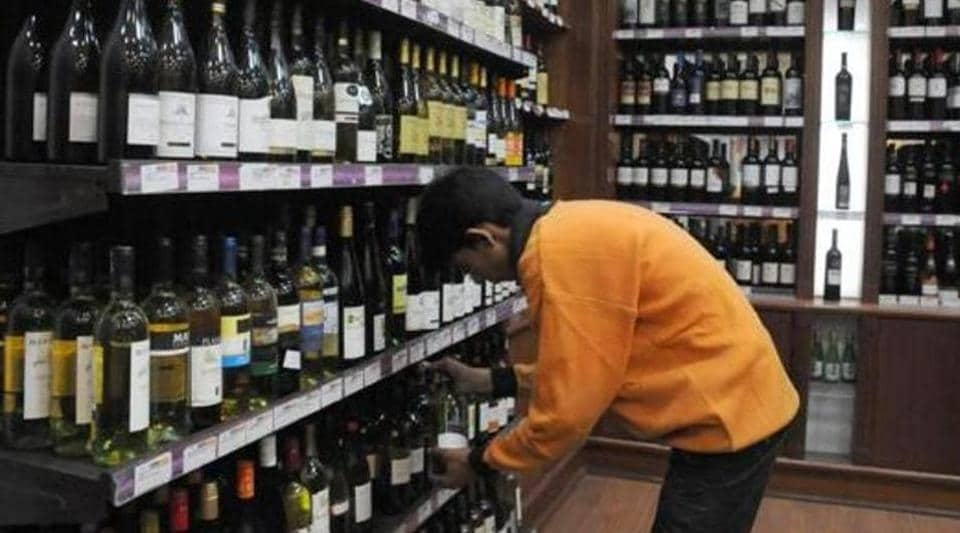 Alcohol sales have fallen sharply in Rajasthan.