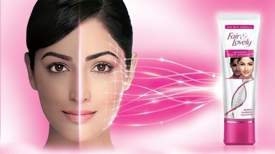 An ad for Fair and Lovely, now Glow and Lovely, such fairness creams are very popular in South East Asia.