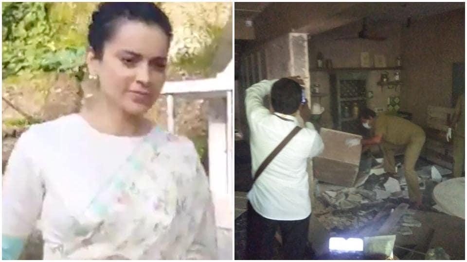 Kangana Ranaut has said 'Maharashta government and their goons' are illegally demolishing her property.