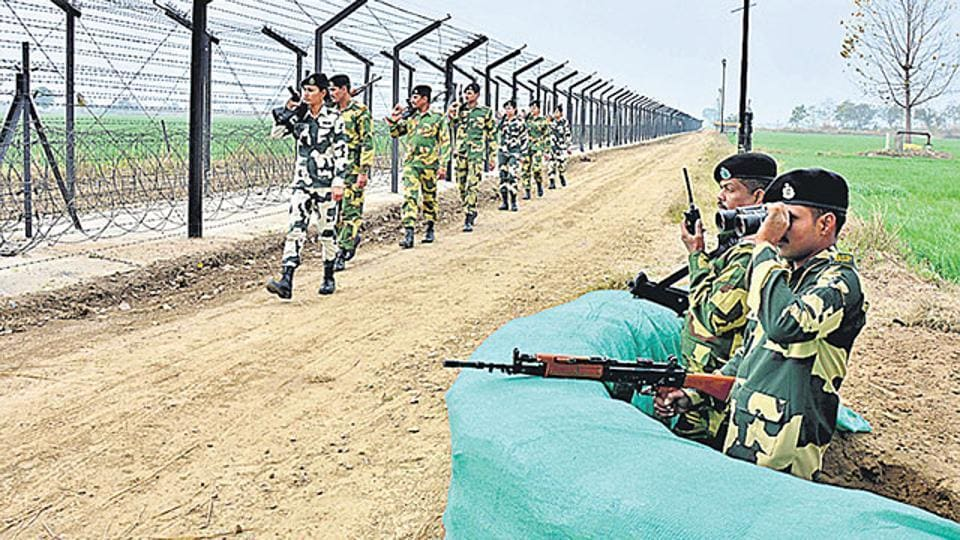 BSF troopers shot dead  two smugglers who were trying to infiltrate into Srigaganagar from Pakistan.