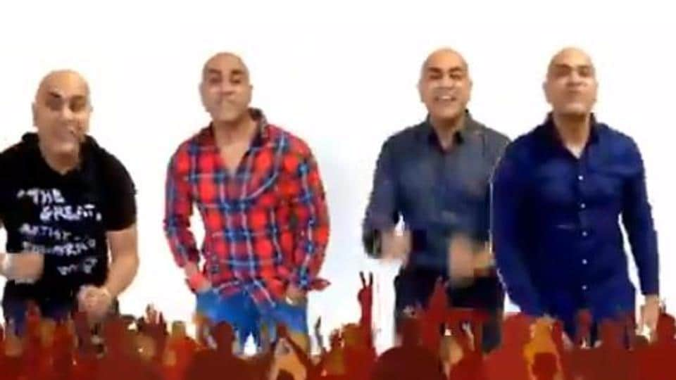 A still from Baba Sehgal's Hindi cover of I Want It That Way.