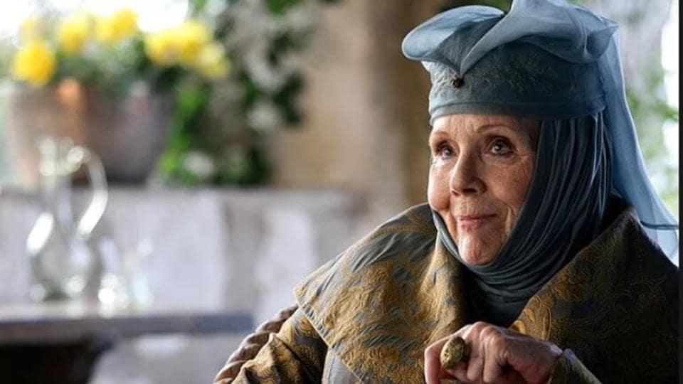 Diana Rigg as Olenna Tyrell in Game of Thrones.