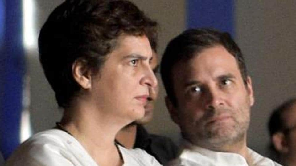 File photo of Congress leaders Priyanka Gandhi Vadra and Rahul Gandhi.