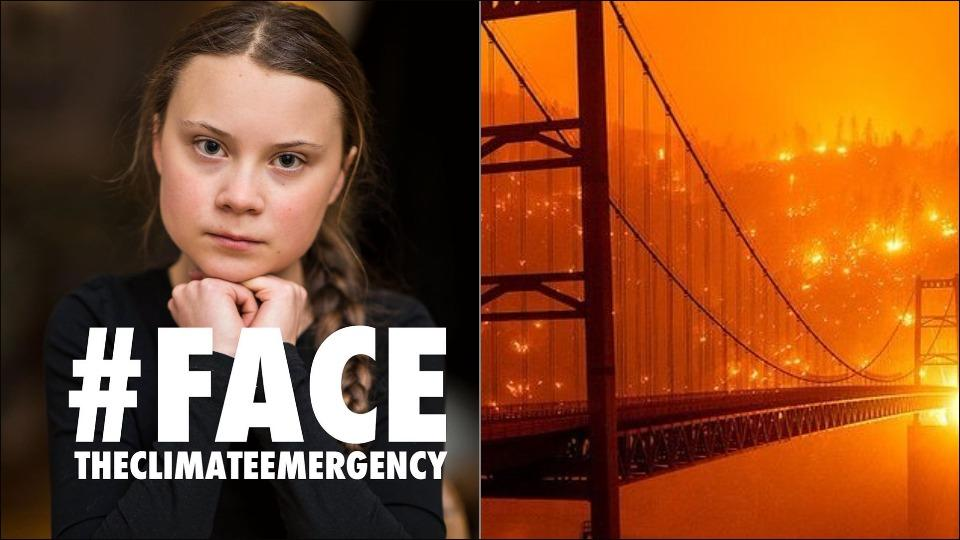 Greta Thunberg calls for action on wildfires raging across the US West Coast