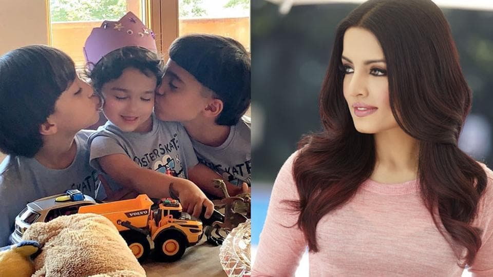 Celina Jaitly celebrates 'miracle baby' Arthur's 3rd birthday: He survived loss of his twin, spent 2 months in an incubator bravely'
