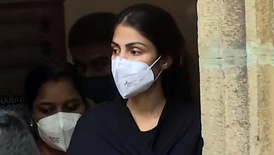 Rhea Chakraborty is being taken for a medical examination after being arrested by the Narcotics Control Bureau (NCB) in a drug case related to SushantSingh Rajput's death probe in Mumbai in this file photo.
